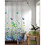 Bloomfield 70-Inch x 72-Inch Shower Curtain in Blue