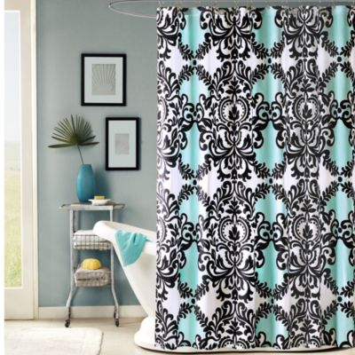 Mia 54-Inch x 78-Inch Fabric Stall Shower Curtain