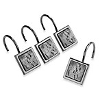 Slate Tribeca Shower Curtain Hooks (Set of 12)