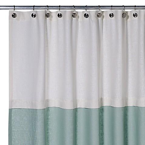 Buy Soho 72 Inch X 75 Inch Linen Shower Curtain In Aqua