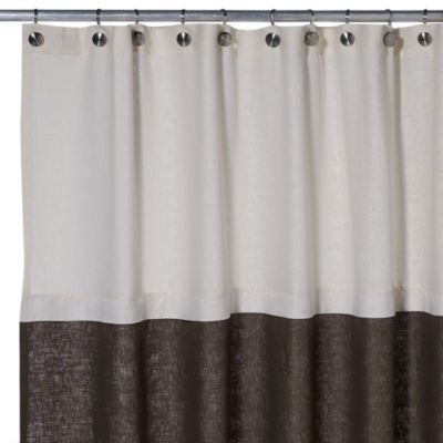 Soho 72-Inch x 75-Inch Linen Shower Curtain in Brown