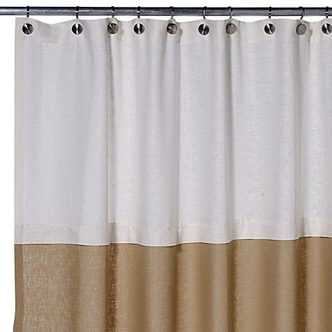 Soho 72 Inch X 75 Inch Linen Shower Curtain In Khaki