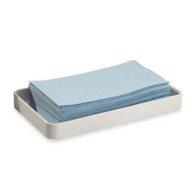InterDesign® Gia Guest Towel Tray in White