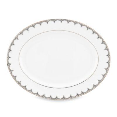 Lenox® Jeweled Saree Platinum 13-Inch Oval Platter