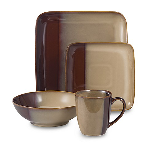 Eclipse Brown 16-Piece Dinnerware Set
