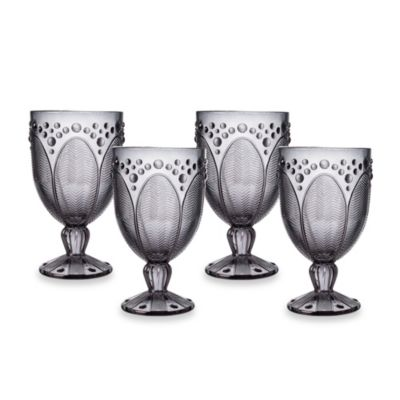 Edie Rose by Rachel Bilson Smoke Goblet Glasses (Set of 4)
