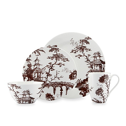 Scalamandre by Lenox® Toile Tale 4-Piece Place Setting in Chocolate