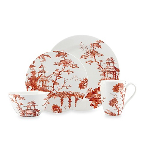 Scalamandre by Lenox® Toile Tale Sienna 4-Piece Place Setting