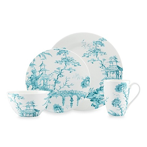 Scalamandre by Lenox® Toile Tale Teal 4-Piece Place Setting