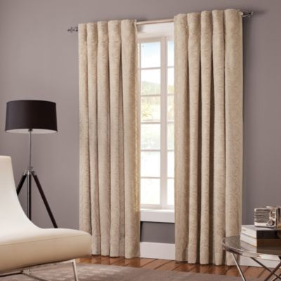 Designer's Select Claudia 108-Inch Back Tab Window Curtain Panel in Pewter