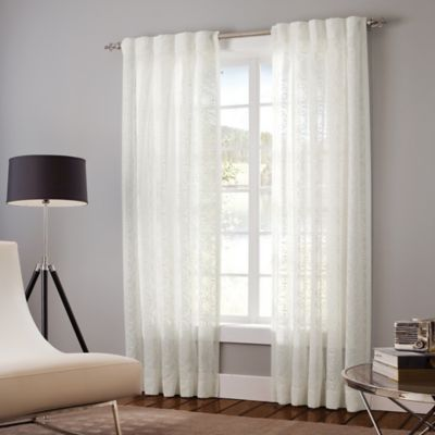 Designer's Select Claudia 63-Inch Back Tab Window Curtain Panel in White
