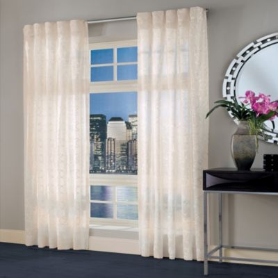Designer's Select Maximus Sheer 95-Inch Inverted Pleat Window Curtain Panel