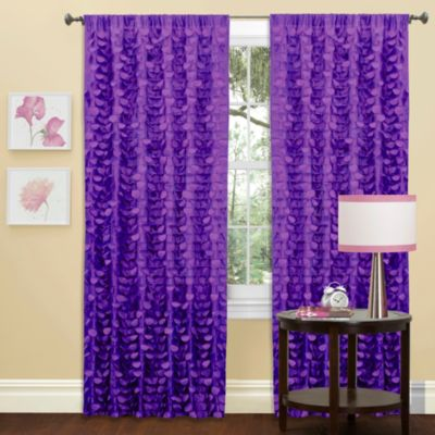Gigi Window Curtain Panel in Purple