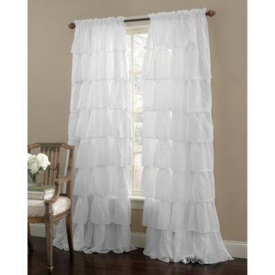 Gypsy Rod Pocket 63-Inch Window Curtain Panel in White