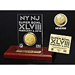 NFL Super Bowl XLVIII Etched Gold Coin Acrylic