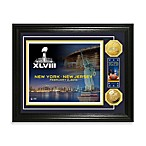NFL Super Bowl XLVIII Ticket and Gold Photo Mint