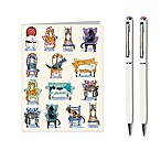 Cats in Chairs Stationery Set