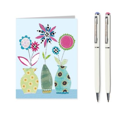 Flowers in Vases Stationery Set