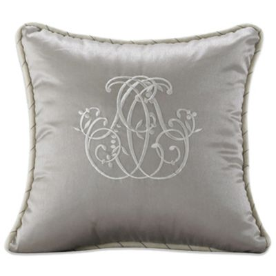Kerrington Silk Embroidery Square Toss Pillow