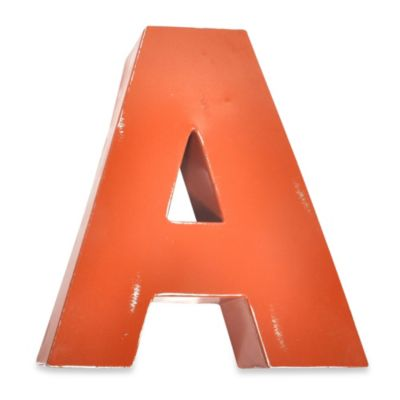"Metal Letter ""A Wall Art in Orange"