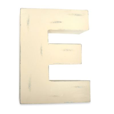 "Sleeping Partners Metal Letter ""E"" Wall Art in White"