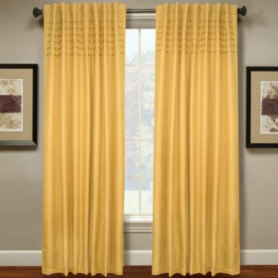 Hailey 84-Inch Pleated Window Curtain Panel in Yellow