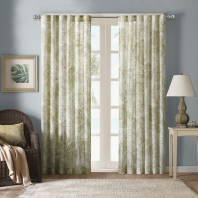 Harbor House 108-Inch Palm Sheer Window Curtain Panel in Natural