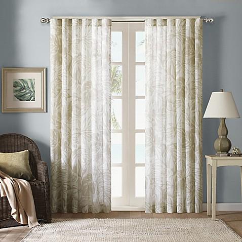 Harbor House Palm Sheer Window Curtain Panels Bed Bath