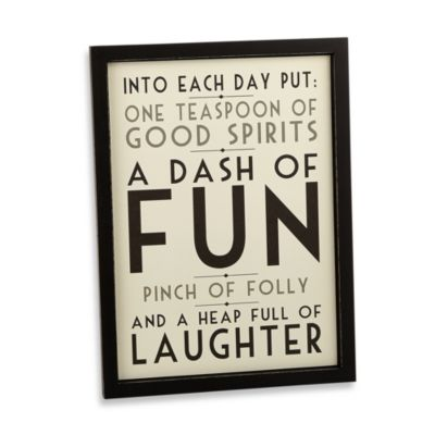 Into Each Day Put 10-Inch x 14-Inch Wall Art