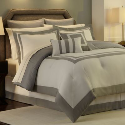Hotel Comforter Super Set in Grey