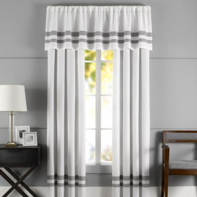 Hotel Window Valance in Grey