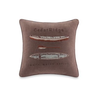 Cedar Ridge Clinton Woven Canoe Square Throw Pillow