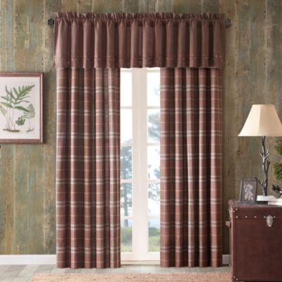 Cedar Ridge Clinton Woven Lined 84-Inch Window Panel Pair