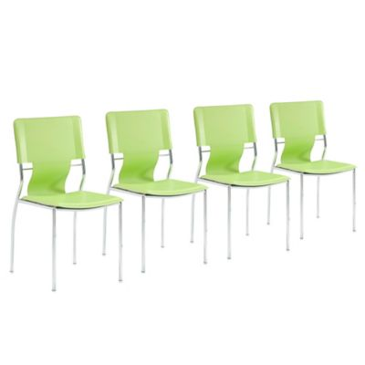 Zuo® Modern Trafico Dining Chair in Green (Set of 4)