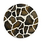 Giraffe Pattern Round Charger Plates (Set of 4)