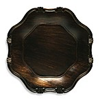 Wood Grain Baroque Charger Plates in Brown (Set of 4)
