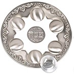 Pewter Finish and Glass Seder Plate