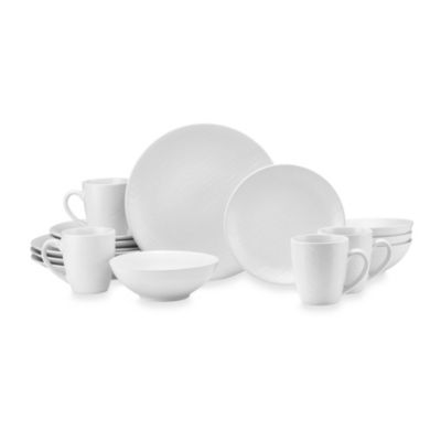 Mikasa® Gourmet Basics Ridgewood 16-Piece Dinnerware Set in White
