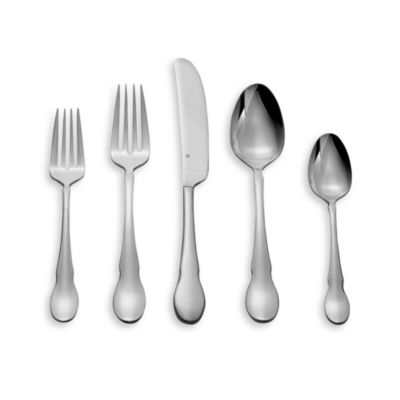 Buy gourmet settings twist n shout 20 piece stainless steel flatware set from bed bath beyond - Gourmet settings silverware ...