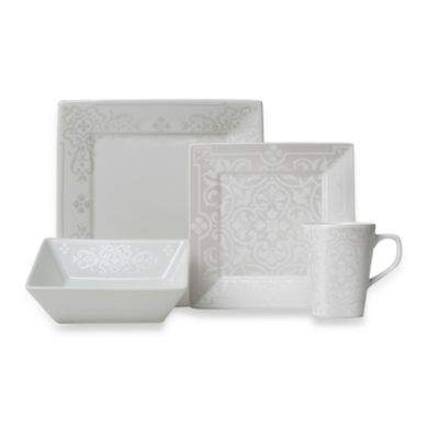 222 Fifth 16-Piece Astoria Platinum Dinnerware Set