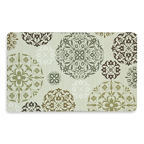 Mohawk Home Tossed Medallion Comfort Plush Mat In Brown