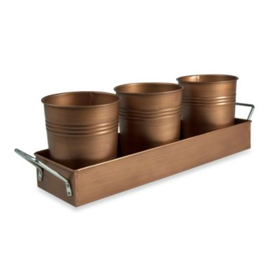 Artland Oasis Picnic Caddy in Antique Copper