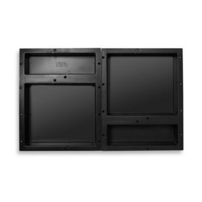 Redi Niche® Quadruple Recessed 32-Inch x 20-Inch Shower Shelf with 14-Inch and 6-Inch Shelf