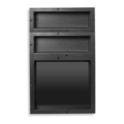 Redi Niche® Triple Recessed 16-Inch x 26-Inch Shower Shelf with 20-Inch and 14-Inch Shelf
