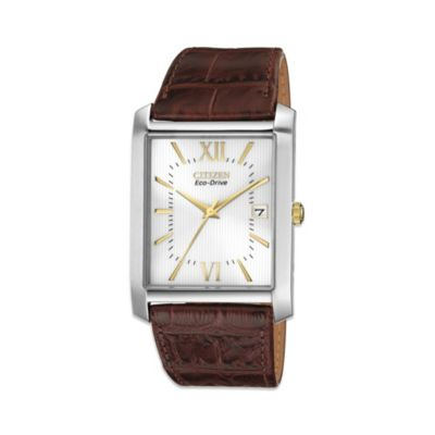 Citizens Men's Eco-Drive Watch with Leather Strap