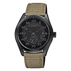 Citizen Men's Eco-Drive Watch with Nylon Strap in Black