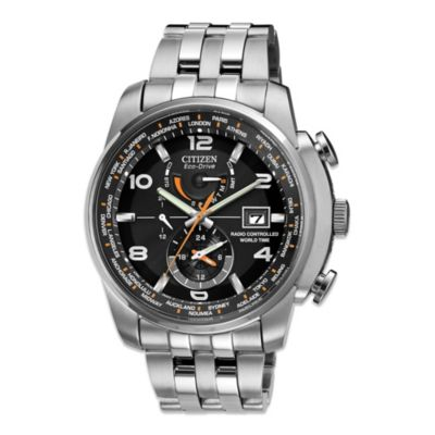 Citizen Men's Eco-Drive World Time A - T Stainless Steel Watch