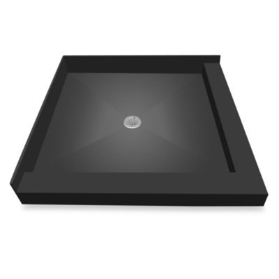 Redi Base™ 36-Inch x 36-Inch Right Double Curb Shower Pan with Center Drain