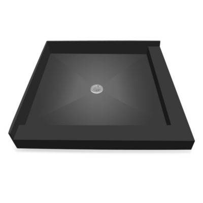 Redi Base™ 32-Inch x 32-Inch Right Double Curb Shower Pan with Center Drain