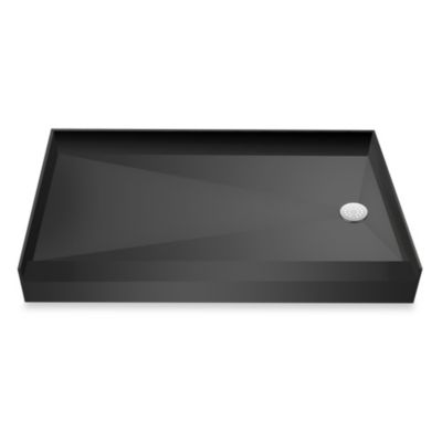 Tile Redi USA® Redi Base® 31-Inch x 60-Inch Single Curb Shower Pan with Right Drain